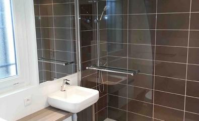 Rénovation d'une salle de douche à Cergy